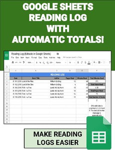 Digital Reading Logs (Editable in Google Sheets) - Roombop