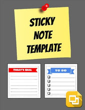 Load image into Gallery viewer, Sticky Note Template (Editable in Google Slides) - Roombop