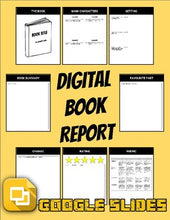 Load image into Gallery viewer, Digital Book Report (Editable in Google Slides) - Roombop
