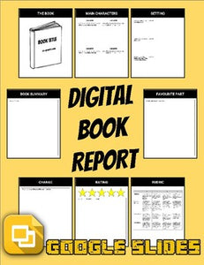 Digital Book Report (Editable in Google Slides) - Roombop