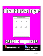Load image into Gallery viewer, Character Map Organizer (Editable in Google Docs) Distance Learning - Roombop