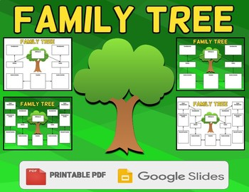 Family Tree Graphic Organizer Template (Editable in Google Slides) - Roombop