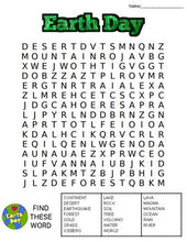 Load image into Gallery viewer, Earth Day Word Search: 3 Difficulties - Roombop