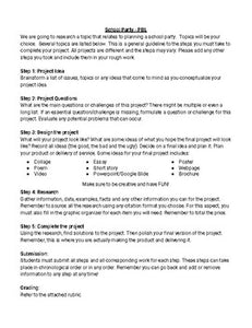 PBL: Class Party (Editable in Google Docs) - Roombop