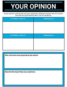 Current Evens Graphic Organizer (Editable in Google Slides) - Roombop