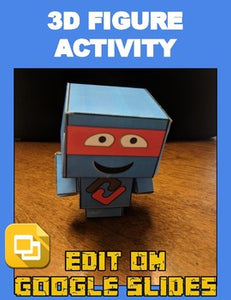 3D Figure Activity (Editable in Google Slides) Distance Learning - Roombop