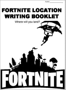 Fortnite Location Writing Booklet - Roombop