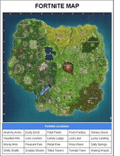 Load image into Gallery viewer, Fortnite Location Writing Booklet - Roombop