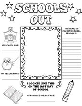 Load image into Gallery viewer, Schools Out Graphic Organizer - Roombop