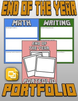 End of the Year Portfolio (Editable in Google Slides) - Roombop