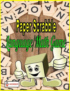 Paper Scrabble Language/Math Game - Roombop