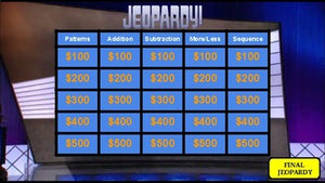 Kindergarten Math Jeopardy (Google Slides) - Roombop
