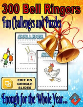 Load image into Gallery viewer, 300 Bell Ringers - Fun Challenges and Puzzles (Editable) - Roombop