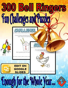 300 Bell Ringers - Fun Challenges and Puzzles (Editable) - Roombop