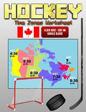 Load image into Gallery viewer, Hockey Time Zones Worksheet (Google Slides) - Roombop