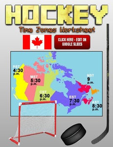 Hockey Time Zones Worksheet (Google Slides) - Roombop