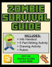 Load image into Gallery viewer, Zombie Survival Guide Assignment (Editable in Google Slides) - Roombop