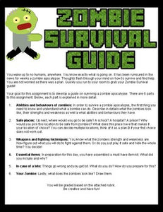 Zombie Survival Guide Assignment (Editable in Google Slides) - Roombop