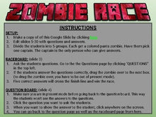 Load image into Gallery viewer, Zombie Race Review Game (Editable in Google Slides) - Roombop