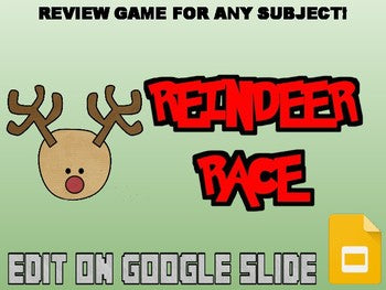 Reindeer Race Review Game (Google Slides) - Roombop