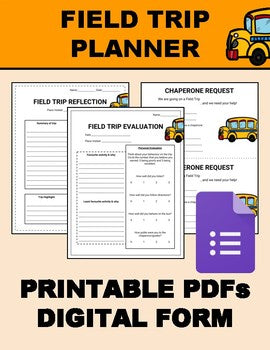Field Trip Planner (Editable on Google Forms) - Roombop