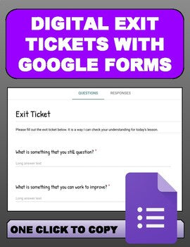 Digital Exit Tickets with Google Forms - Roombop
