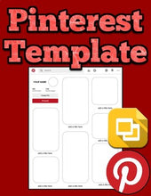 Load image into Gallery viewer, Pinterest Template (Editable on Google Slides) - Roombop
