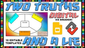 Ice Breaker: Digital Two Truths & a Lie (Editable in Google Slides) - Roombop