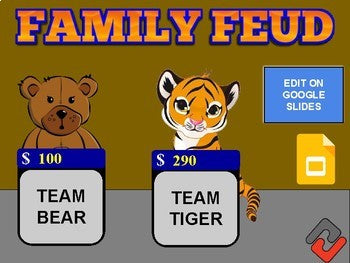 Family Feud Game (Google Slides Template) - Roombop