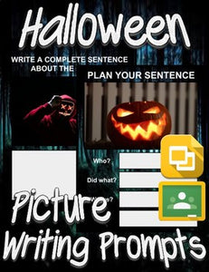 Halloween Picture Prompt Writing (Google Classroom) - Roombop