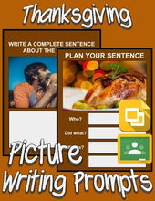 Load image into Gallery viewer, Thanksgiving Picture Prompt Writing (Google Classroom) - Roombop