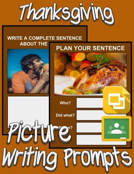 Thanksgiving Picture Prompt Writing (Google Classroom) - Roombop