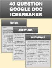 Load image into Gallery viewer, 40 Question Google Docs Icebreaker - Roombop