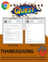 Load image into Gallery viewer, Thanksgiving WebQuest - Engaging Internet Activity (Edit on Google Slides) - Roombop