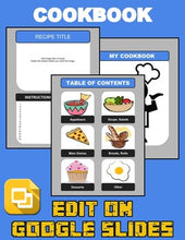 Load image into Gallery viewer, Cookbook Template (Editable in Google Slides) Distance Learning - Roombop