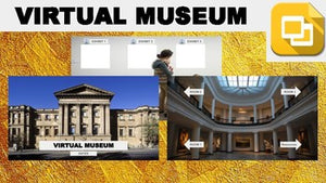 Virtual Museum (Editable in Google Slides) Distance Learning - Roombop