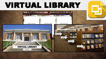 Virtual Library (Editable in Google Slides) Distance Learning - Roombop