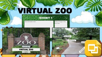Virtual Zoo (Editable in Google Slides) Distance Learning - Roombop