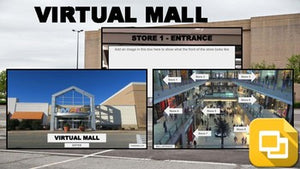 Virtual Mall (Editable in Google Slides) Distance Learning - Roombop