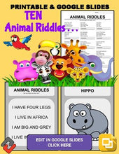 Load image into Gallery viewer, Animal Riddles: Who Am I Handout & Google Slide - Roombop