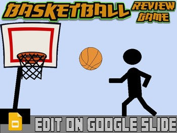 Basketball: Interactive Review Game (Editable on Google Slides) - Roombop