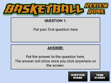 Load image into Gallery viewer, Basketball: Interactive Review Game (Editable on Google Slides) - Roombop