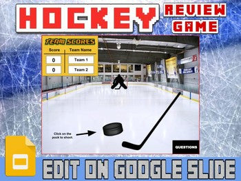 Hockey: Interactive Review Game (Editable on Google Slides) - Roombop