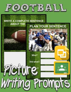 Football Picture Prompt Writing (Google Classroom) - Roombop