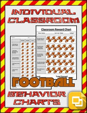 Load image into Gallery viewer, Football Individual & Classroom Behavior Chart (Editable on Google Slides) - Roombop