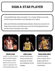 Basketball: Create a Team Project (Google Classroom) - Roombop
