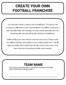 Football: Create a Team Project (Google Classroom) - Roombop