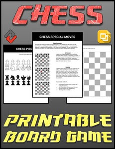 Chess Printable Board Game (Editable Google Slides) Distance Learning - Roombop