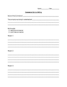 Football Commercial Worksheets (Editable in Google Docs) - Roombop