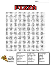 Load image into Gallery viewer, Pizza Word Search: 3 Difficulties - Roombop
